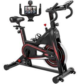 DMASUN Exercise Bike, DMASUN Indoor Cycling Bike Stationary, Comfortable Seat Cushion, Multi - grips Handlebar, Heavy Flywheel Upgraded Version (Black)