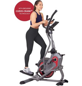 Body Power Body Power 2-in-1 Elliptical Stepper Trainer with Curve-Crank Technology