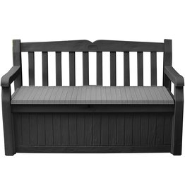 KETER Keter Solana 70 Gallon Storage Bench Deck Box for Patio Furniture, Front Porch Decor and Outdoor Seating