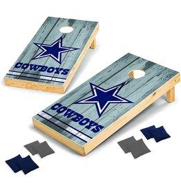 Wild Sports 2' x 4' Cornhole Set - Direct Printed - Vintage Wood - Dallas Cowboys