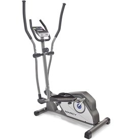 Marcy Marcy Magnetic Elliptical Trainer Cardio Workout Machine with Transport Wheels NS-40501E