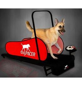 dogPACER dogPACER 91641 LF 3.1 Full Size Dog Pacer Treadmill, Black and Red