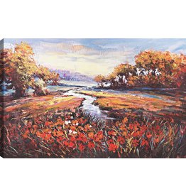 Art Maison Canada Art Maison Canada Modern Décor for Home and Office, 48WX30LX1.5D, Red, Yellow, Black