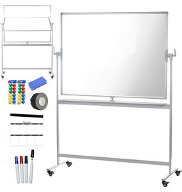 CREATIVE SPACE CREATIVE SPACE Standing Mobile Whiteboard - 32x48, Portable, Magnetic Easel Style Dry Erase Board with Stand, Double Sided, Rolling White Board for Office, Classroom, or Home - 4pc Markers Incl.