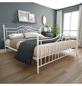 DHP DHP Tokyo Metal Bed, White, King