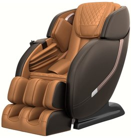 Real Relax Real Relax Massage Chair, Full Body Zero Gravity Shiatsu Robots Hands S Track Massage Recliner with Bodyscan Bluetooth Heat, Favor-05 Khaki