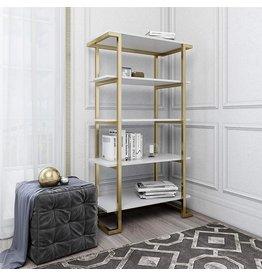 CosmoLiving CosmoLiving Camila 5 Shelf Bookcase, White Bookshelf