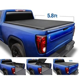"""Tyger Auto Tyger Auto T3 Soft Tri-Fold Truck Bed Tonneau Cover Compatible with 2019-2021 Chevy Silverado/GMC Sierra 1500 New Body  5'8"""" Bed (68"""")  Not Fit Factory Side Storage Box or CarbonPro  TG-BC3C1053"""