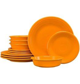 Fiesta Fiesta 12-Piece Classic Dinnerware Set   Butterscotch