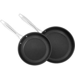"Cuisinart CUISINART 8322-810NS Classic Series 2-Piece Stainless Steel Nonstick Skillet Set, 8"" & 10"""