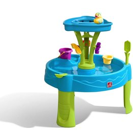 Step2 Step2 Summer Showers Splash Tower Water Table   Kids Water Play Table with 8-Pc Water Toy Accessory Set