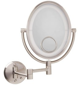 Jerdon Jerdon LED Lighted Wall Mirror Direct Wire, Nickel,60.8 Ounce
