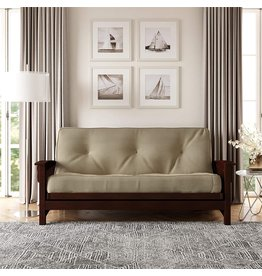 Signature Sleep DHP 8 Inch Independently Encased Coil Futon Mattress, Tan Microfiber (Excluding Futon Frame)