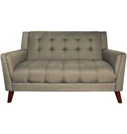 Great Deal Furniture Christopher Knight Home Evelyn Mid Century Modern Fabric Loveseat, Mocha