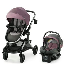 Graco Graco Modes Nest Travel System | Includes Baby Stroller with Height Adjustable Reversible Seat, Bassinet Mode, Lightweight Aluminum Frame and SnugRide 35 Lite Elite Infant Car Seat, Norah