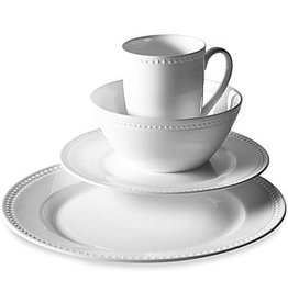Tabletops Unlimited Otella Bone China Set, White, 16-Piece by Tabletops Unlimited