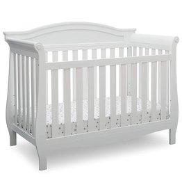 Delta Children Delta Children Lancaster 4-in-1 Convertible Baby Crib, Bianca White