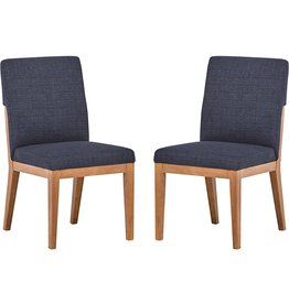 Stone & Beam Amazon Brand – Stone & Beam Sophia Modern Accent Kitchen Dining Room Table Chairs, 36 Inch Height, Set of 2, Slate Blue