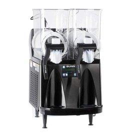 Bunn Ultra Bunn Ultra-2 HP Slushy/Granita Frozen Drink Machine with 2 Hoppers and Flat Lid - Black 120V (Bunn 34000.0013)