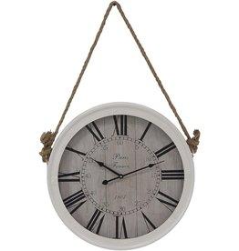 Deco 79 Deco 79 90752 Wall Clock, White/Black