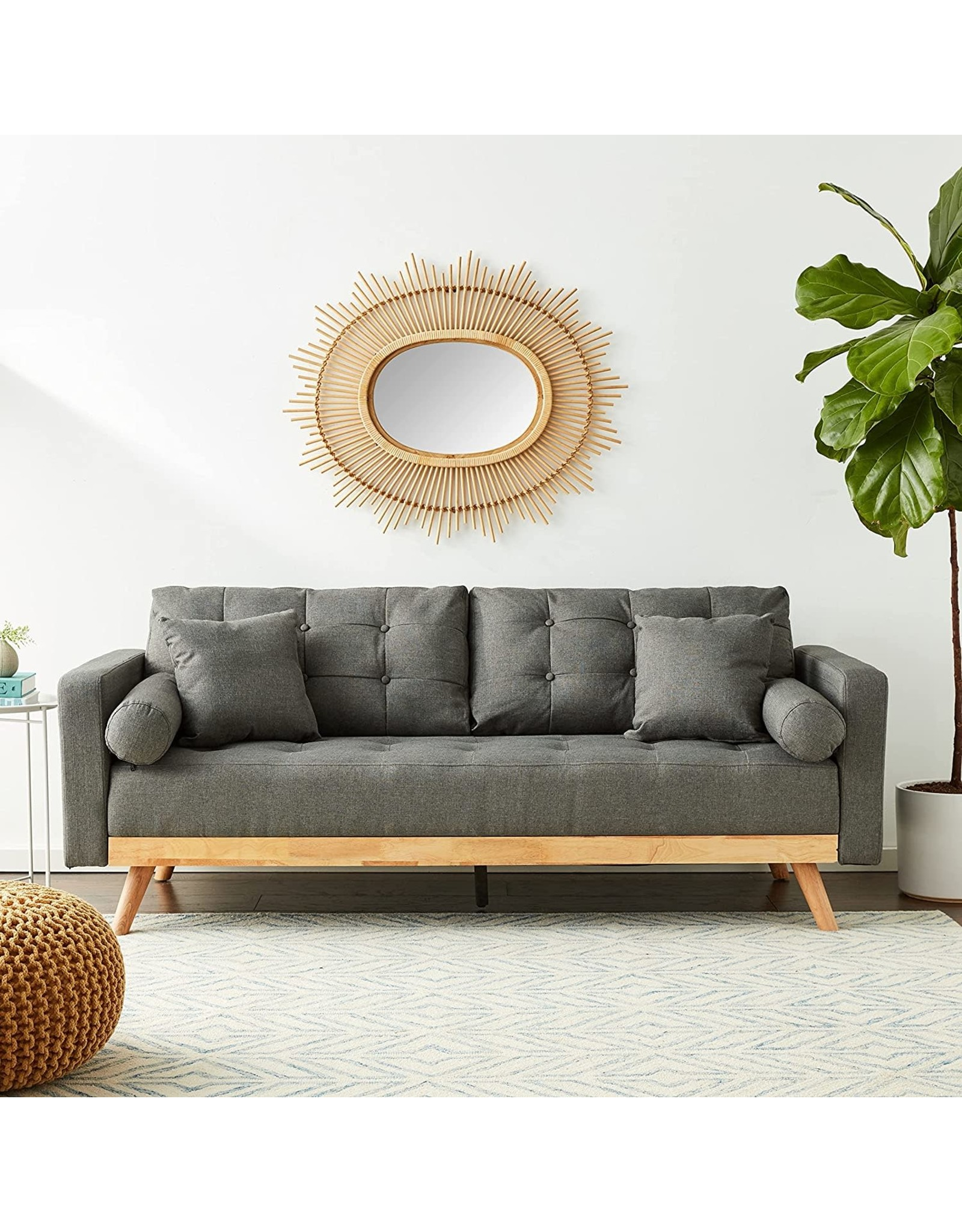 Divano Roma Furniture Divano Roma Furniture Madison Sofas, Dark Grey
