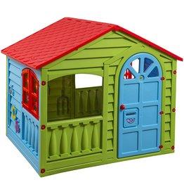 PalPlay PalPlay Colorful Fun House, Medium, Green/Red/Blue