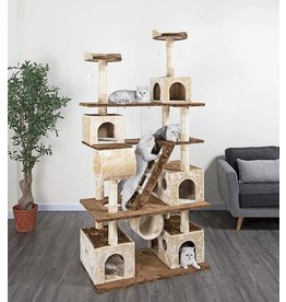 """Go Pet Club Go Pet Club Huge 87"""" Tall Cat Tree House Climber Furniture with Swing"""