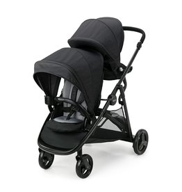 Graco Graco Ready2Grow LX 2.0 Double Stroller Features Bench Seat and Standing Platform Options, Gotham