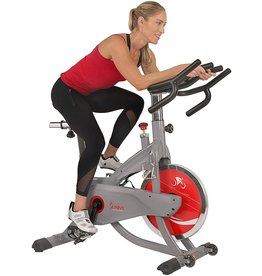 Sunny Health & Fitness Sunny Health & Fitness AeroPro Indoor Cycling Exercise Bike with 44 LB Flywheel and Magnetic Resistance - SF-B1711, Grey