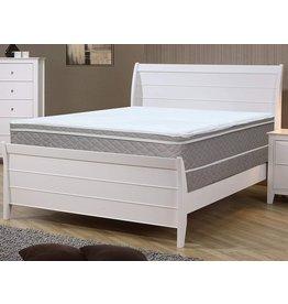 Continental Sleep Continental Sleep 10-Inch Medium Plush Eurotop Pillowtop Innerspring Fully Assembled Mattress, Good for The Back, Full, White LT Brown