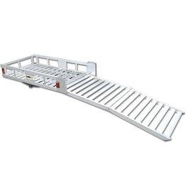 """MAXXHAUL MAXXHAUL 70275 Aluminum Cargo Carrier  With 60\ Folding Ramp  53.5"""" x 29"""""""