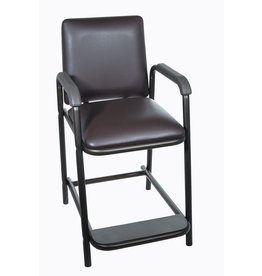 Drive Medical Drive Medical Deluxe Hip High Chair with Comfortable Padded Seat, Brown Vein