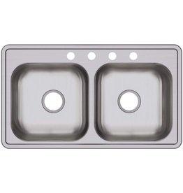 Elkay Elkay D233194 Dayton Equal Double Bowl Drop-in Stainless Steel Sink
