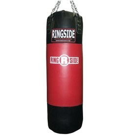 Ringside Ringside Leather Boxing Punching Heavy Bag (Soft Filled) Red / Black, 150-Pound