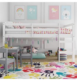 Dorel Living Dorel Living Milton Junior Twin Loft Bed, White