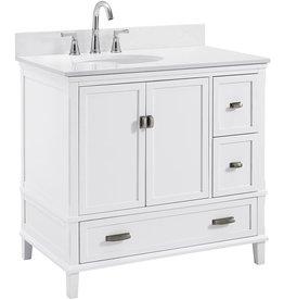 """Dorel Living Dorel Living Otum 36"""" Bathroom Vanity, White"""