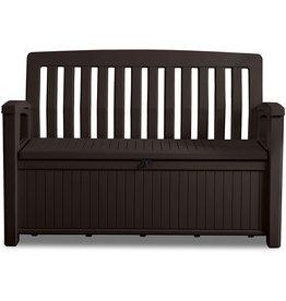KETER Keter Patio Cushion Storage Box, Water-Resistant Garden Cushion Box, 227Liter Patio Bench, Espresso Brown, 138.6x 63.5x 88cm, Cushion Box Weatherproof
