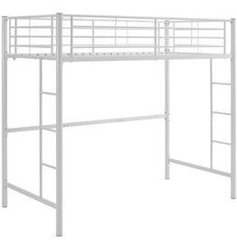 Walker Edison W. Designs Sunrise Twin Loft Bed in White by Walker Edison