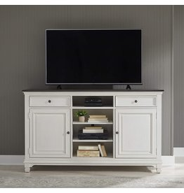 """Liberty Furniture INDUSTRIES Liberty Furniture Industries Allyson Park TV Console, 68"""" Highboy, White"""