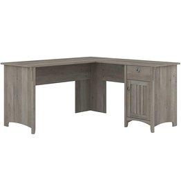 Bush Furniture Bush Furniture Salinas L Shaped Desk with Storage, 60W, Driftwood Gray