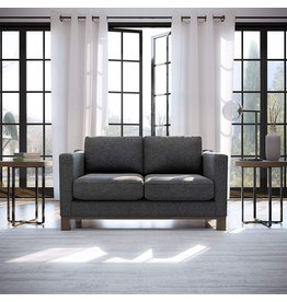Edenbrook Edenbrook Parkview Upholstered Loveseat with Wood Base-Two-Cushion Design-Contemporary Feel Love Seats, Stormy Gray