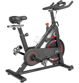 ADVENOR ADVENOR Magnetic Resistance Exercise Bike, Indoor Stationary Bikes for Home Workout, Quiet Belt Drive with LCD Monitor, Support up to 330 lbs, Flywheel 35 lbs (black&red)