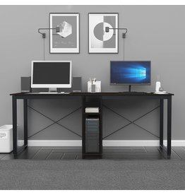 sogesfurniture sogesfurniture 78 inches Large Double Workstation Dual Desk Home Office Desk 2-Person Computer Desk Computer desks with Storage, Maple& BHUS-LD-H01-MO