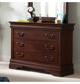 """Liberty Furniture INDUSTRIES Liberty Furniture Industries Carriage Court 3-Drawer Dresser, 40"""" x 18"""" x 33"""", Mahogany Stain"""