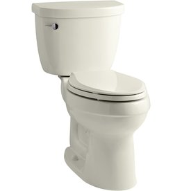 Kohler KOHLER K-3609-95 Cimarron Comfort Height Elongated 1.28 gpf Toilet with AquaPiston Technology, Less Seat, Ice Grey