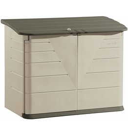 Rubbermaid Rubbermaid Large Horizontal Resin Weather Resistant Outdoor Garden Storage Shed, Olive and Sandstone