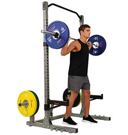 Sunny Health & Fitness Sunny Health & Fitness Power and Squat Rack with High Weight Capacity, Olympic Weight Plate Storage and 360degree Swivel Landmine and Power Band Attachment