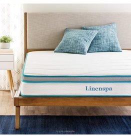 Linenspa Linenspa 8 Inch Memory Foam and Innerspring Hybrid Medium-Firm Feel-King Mattress, White