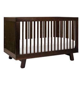 babyletto Babyletto Hudson 3-in-1 Convertible Crib with Toddler Bed Conversion Kit in Espresso, Greenguard Gold Certified