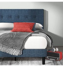 Zinus ZINUS Omkaram Upholstered Platform Bed Frame / Mattress Foundation / Wood Slat Support / No Box Spring Needed / Easy Assembly, Queen